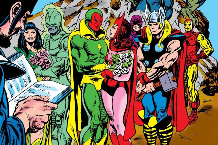 Vision y The Scarlet Witch cómic