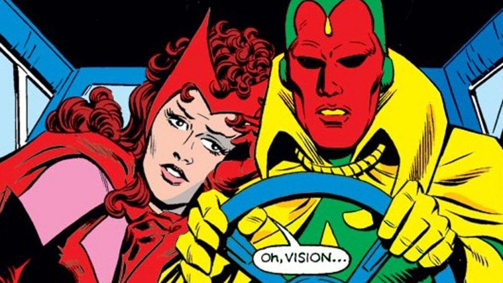 comic vision y la bruja escarlata