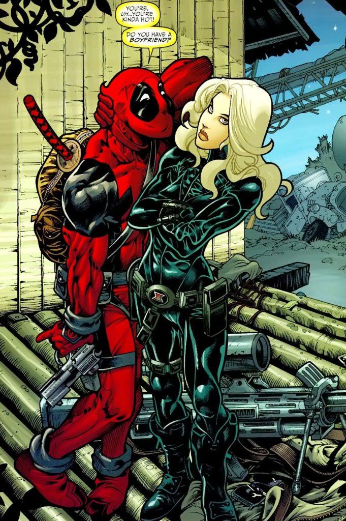 black widow y deadpool parejas más extrañas de marvel