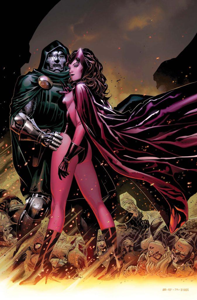 bruja escarlata y doctor doom