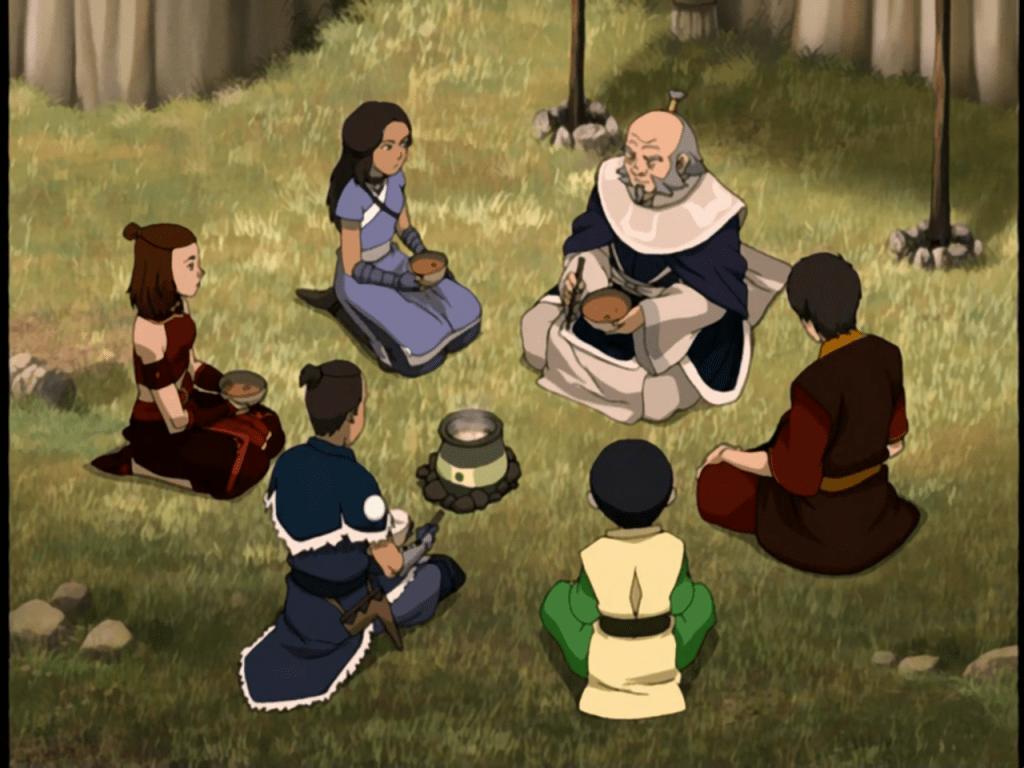 avatar iroh aang zuko katara