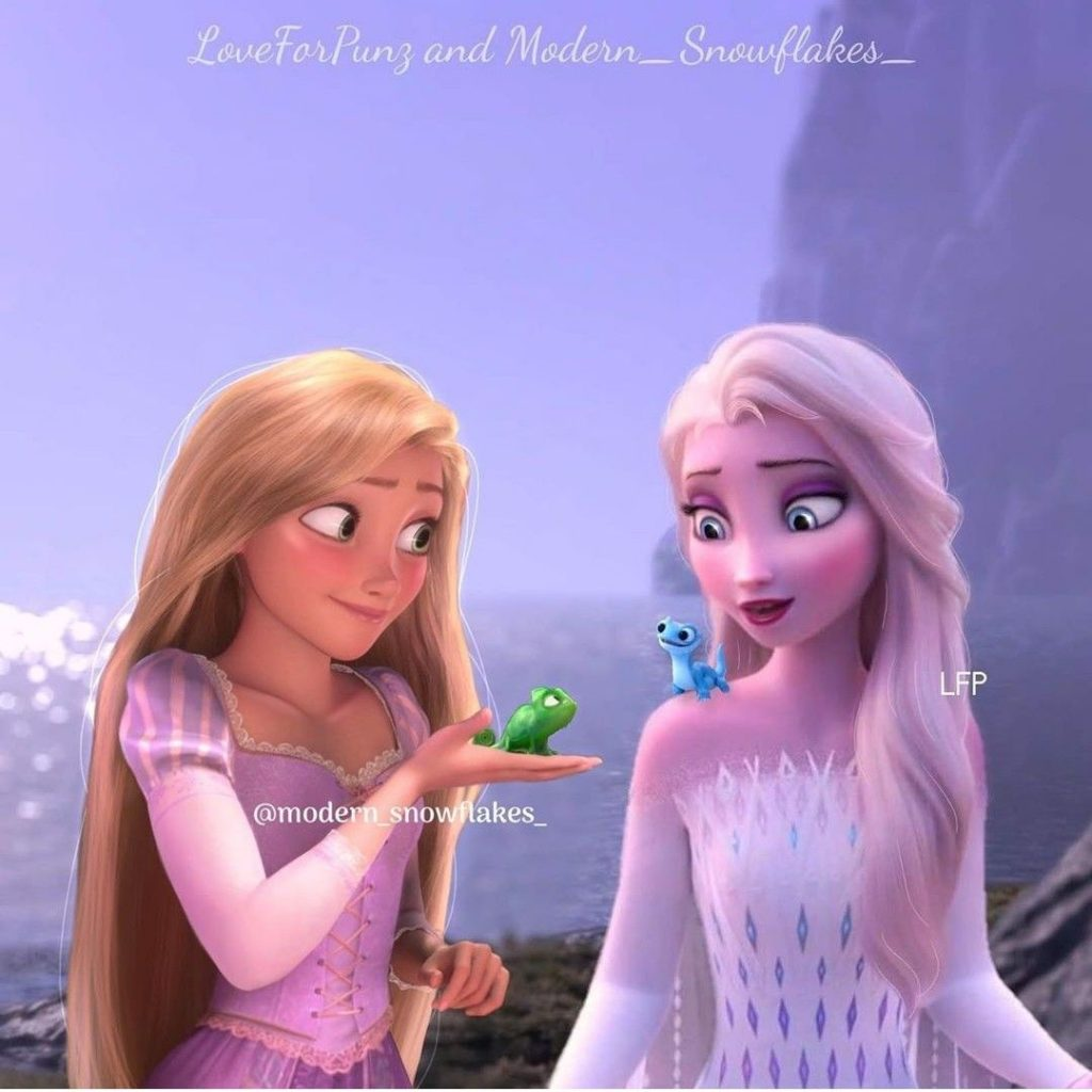 elsa y rapunzel